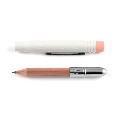 Midori Brass Blyant - Hvid - Stilografika - notesbøger, fyldepenne, blyanter og tilbehør