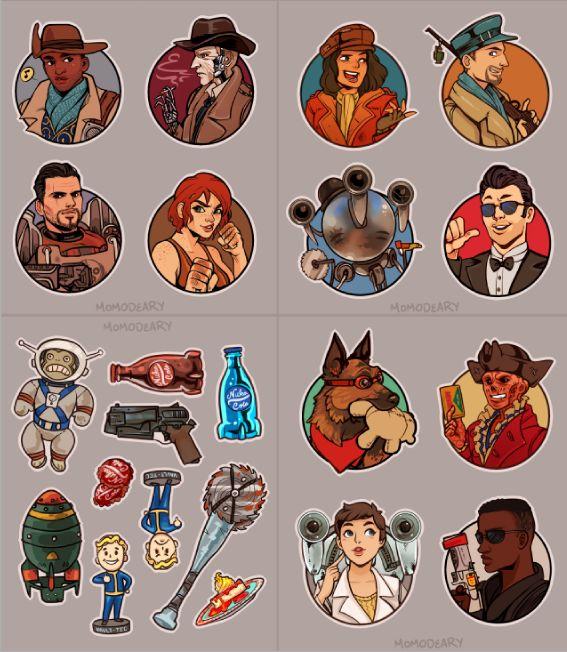 Fallout 4 Stickers by Momo-Deary.deviantart.com on @DeviantArt