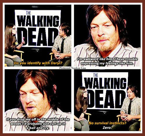 The Walking Dead~ No surviving for Norman Reedus, lol