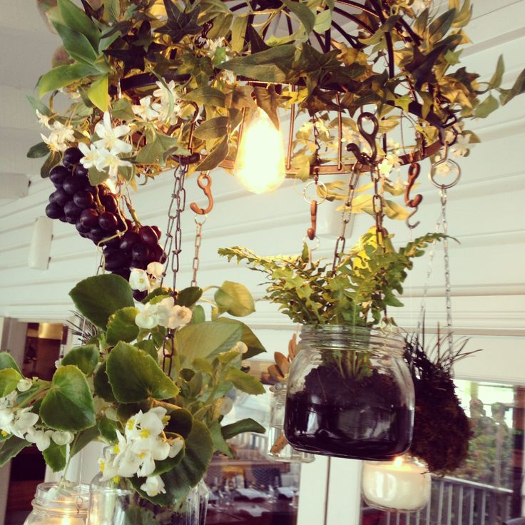 Created by www.beautiflora.com and www.northcoastevents.com.au the beautiful 'Hanging Garden Chandeliers' are original pieces, invented in 2014 by floral and lighting designers in Byron Bay area.