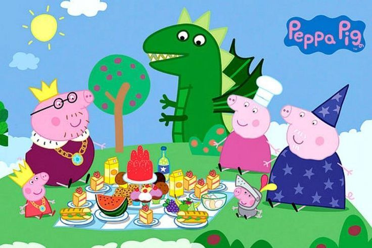Peppa Pig : Princess Picnic - Maxi Poster 91.5cm x 61cm (new & sealed)