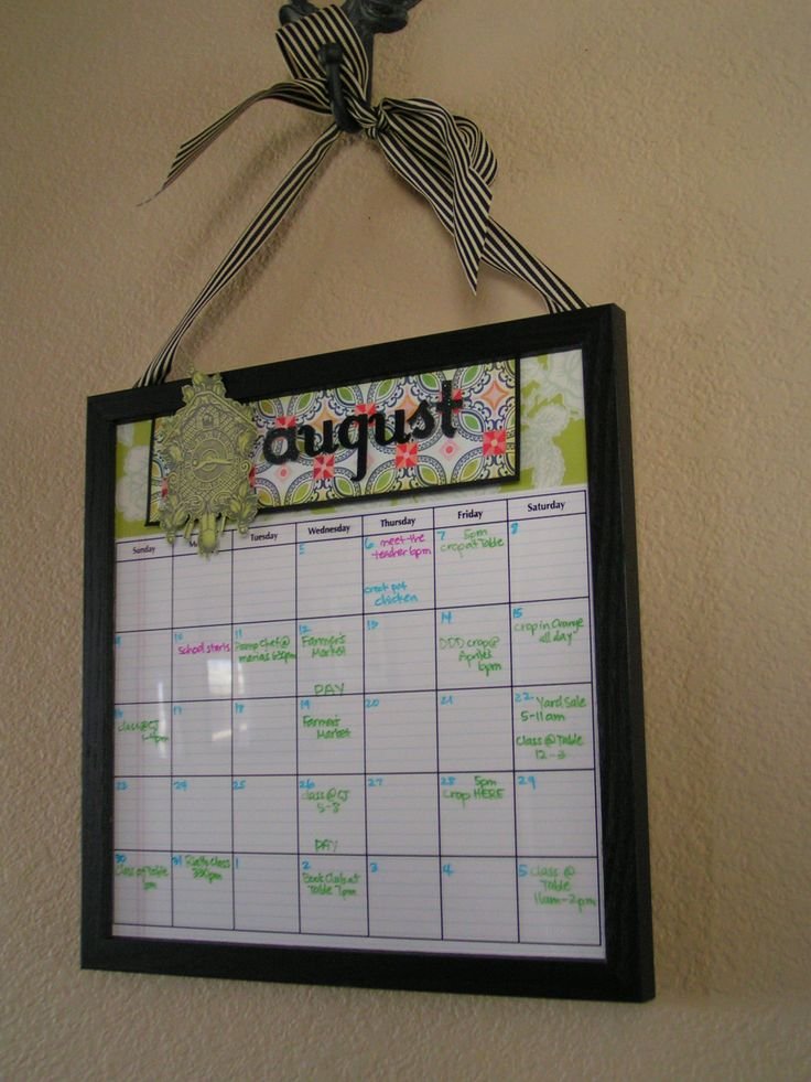 17 Best Ideas About Dry Erase Calendar On Pinterest Diy