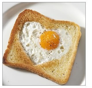 Use 3d printed shape to cut the bread core and just fry the egg inside that slice of bread. Bonus: you get a toast slice too.