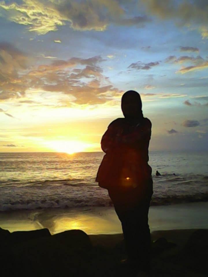 beautiful sunset of Padang Beach