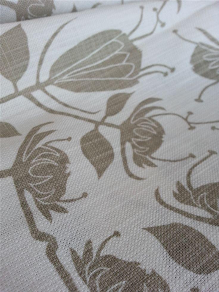 Maradadhi Textiles Protea.  Stone onto white cotton