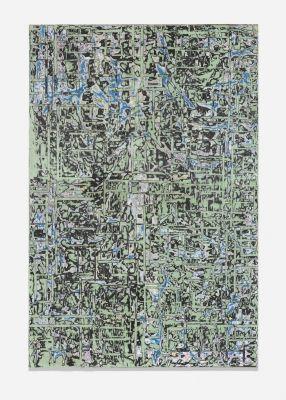 Mark Bradford, Plan View 74 (2014): White Cube Hong Kong May'14