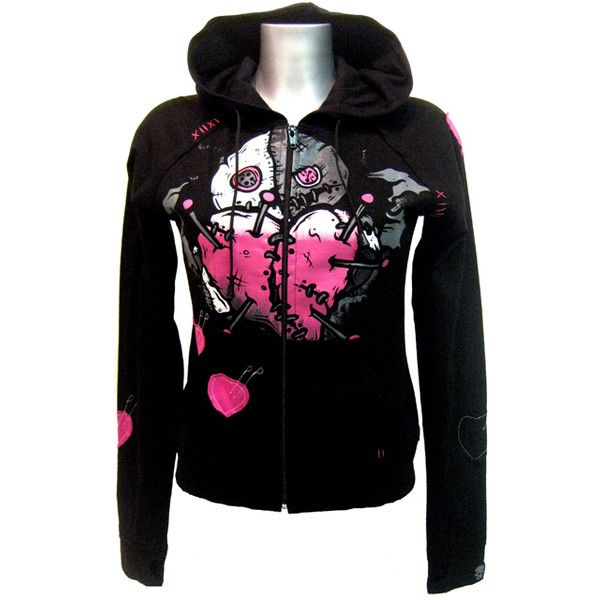 Cupcake Cult Heart Hood Black | Gothic Clothing | Emo clothing |... ❤ liked on Polyvore