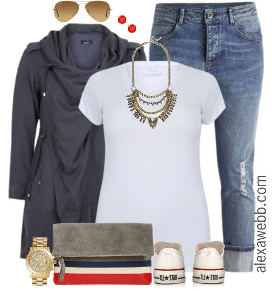 Plus Size Outfit Ideas - Plus Size Jeans and a Tee - Plus Size Fashion for Women - alexawebb.com #alexawebb #plus #size