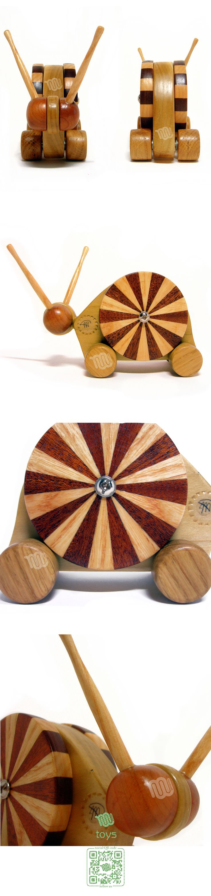 Snail – wood toy
