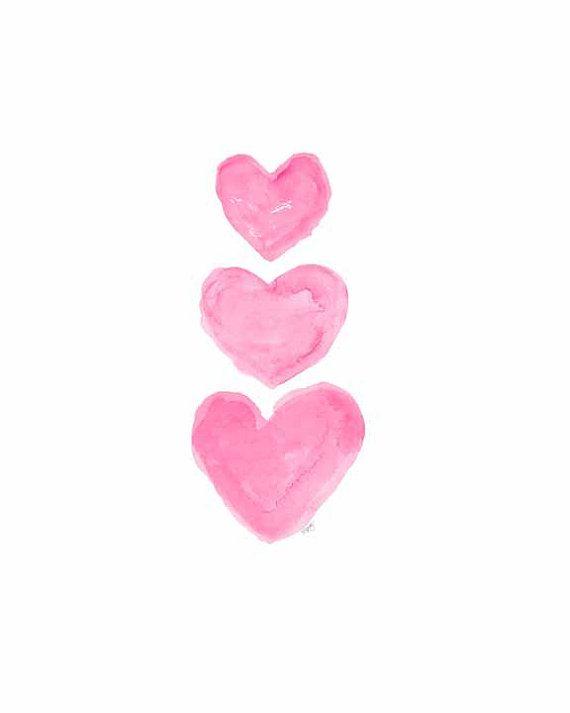 Best 25 Watercolor Heart Ideas On Pinterest Valentines