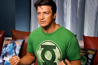 Nathan Fillion was born to play Green Lantern!  Ryan Reynolds blech!