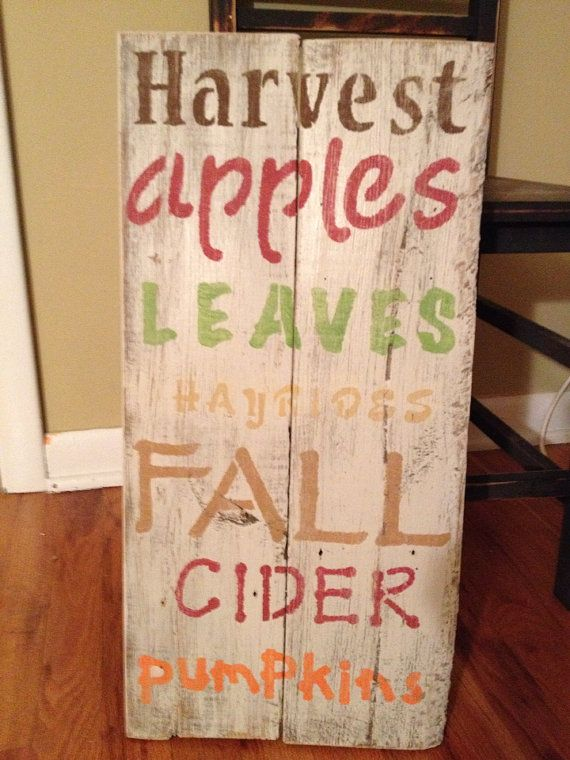 pallet projects for fall. wooden pallet sign - autumn on etsy, $35.00 projects for fall