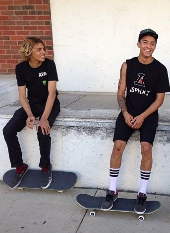 Curren Caples and Nyjah Huston