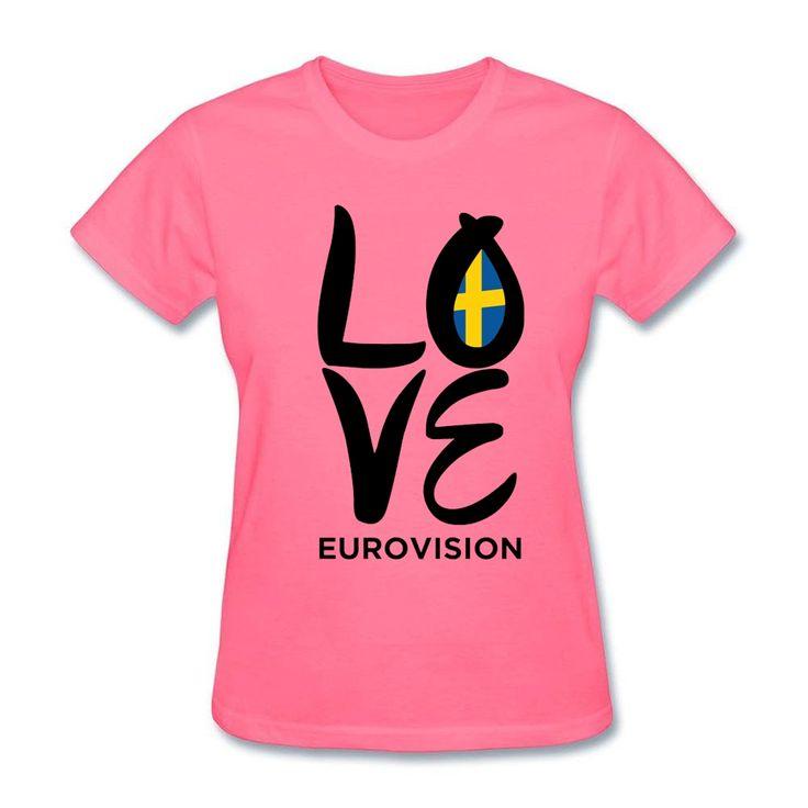 >> Click to Buy << Logo Design LOVE Eurovision t-shirt for Women's Original Home Love Sweden Sister Tee tshirt Online Shopping #Affiliate