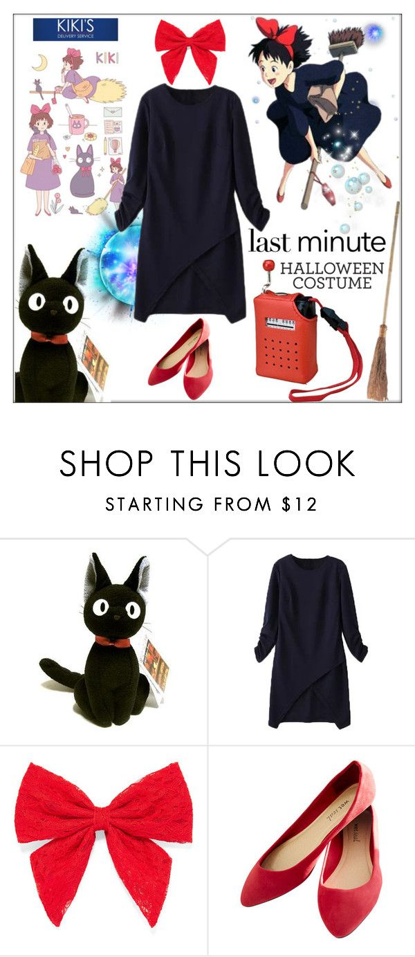 """Last-Minute Halloween Costume"" by orietta-rose ❤ liked on Polyvore featuring WithChic, Carole, Wet Seal and Bibi"