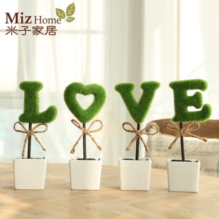 Мини искусственные растения декоративные цветы украшения дома свадебный подарок идеи украшения для волос шар в горшке керамические украшения