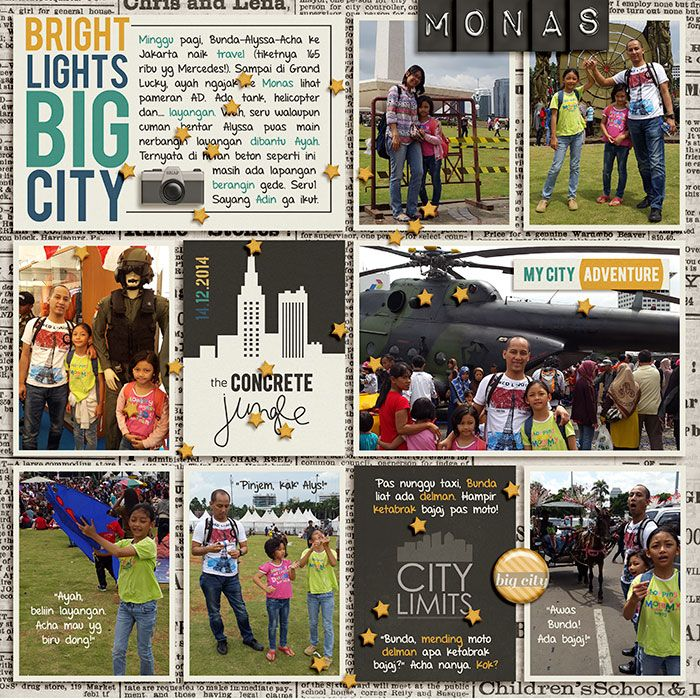 14.12.2014 Weekend at Monas Jakarta. Everyday Life : Urban Dreams by Megan Turnidge and Tickled Pink Studio. 365Unscripted : Stitched Grids 7 by Traci Reed.