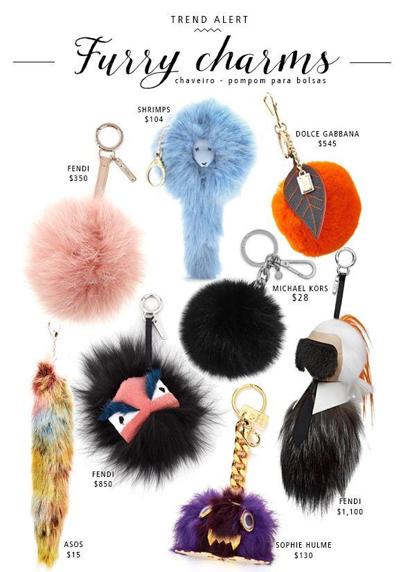 furry charms-pompom-bolsas-ponpon-pelo-fendi-marca