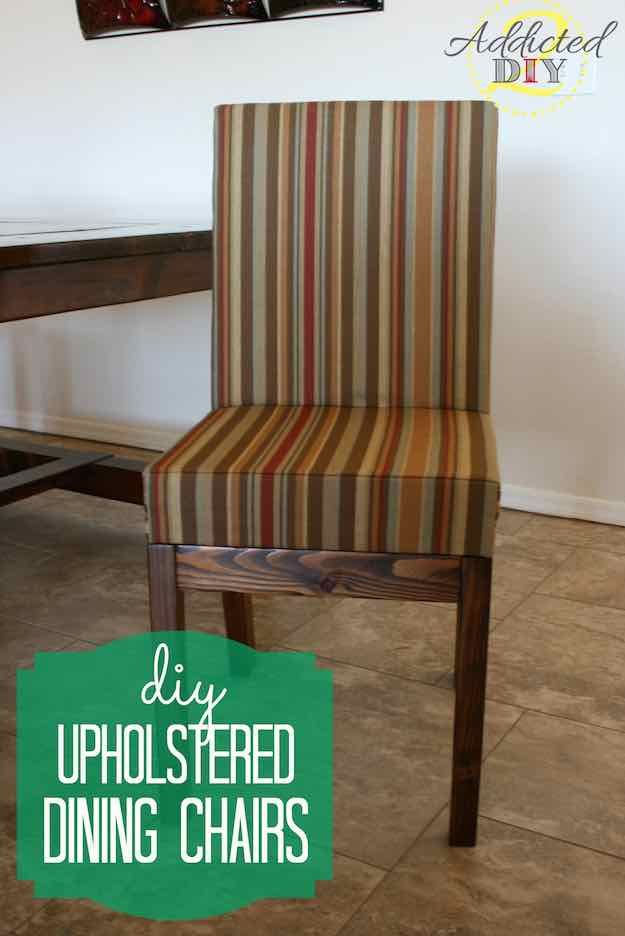 Upholstered Dining Chairs | Discount Dining Room Sets: Make Your Own With These DIY Projects  Read the rest here: Read the rest here: http://livingroomideas.com/diy-discount-dining-room-sets/