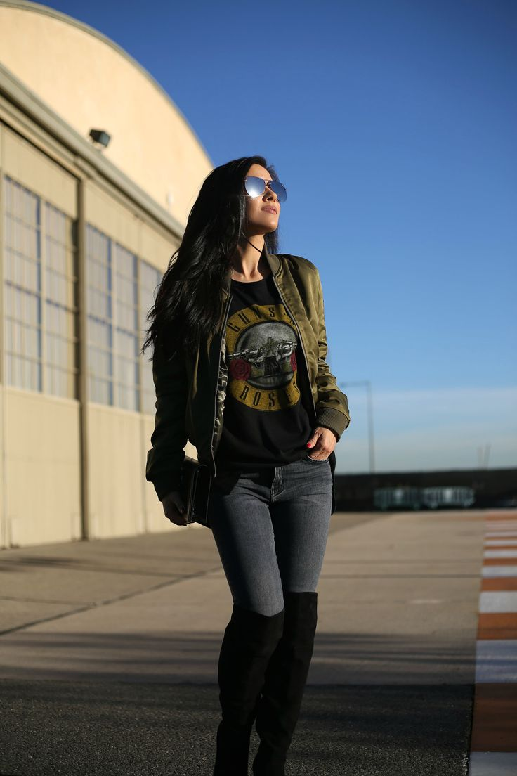 Bomber Jacket + Rocker Tee