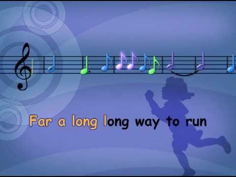 Children's music Do Re Mi with lyrics and musical notes.  c1w10