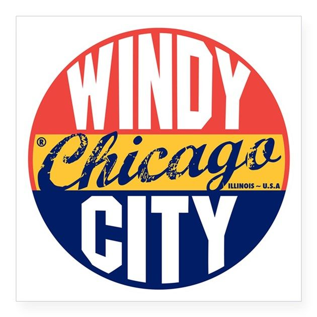 Chicago vintage label b square sticker 3