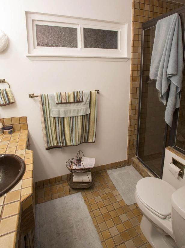 From Changing The Paint Color To Knocking Down Walls See How Your Favorite Hgtv Hosts Take On Bathrooms Remodel Small Bathroom Makeover Diy Bathroom Makeover