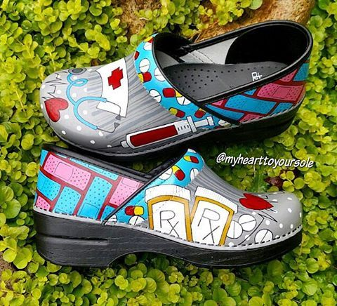 Hand Painted Nursing Shoes