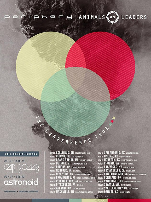 Astronoid Supports Periphery And Animals As Leaders Tour Tours Leader Animals