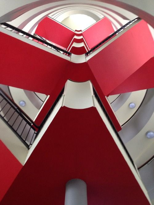 Staircase at Bevin Court by Lubetkin
