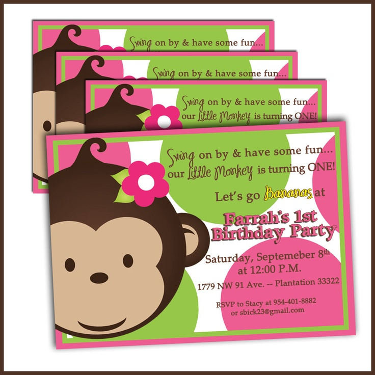 16 best Mod Monkey Birthday Party Ideas for Girl images on Pinterest ...