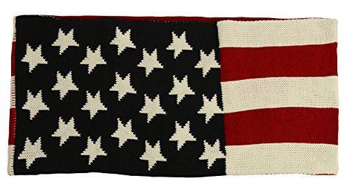 Aracci Us Premium Usa Us American Flag Winter Knit Infinity Loop Circle Scarf Winter Knits Circle Scarf American Flag