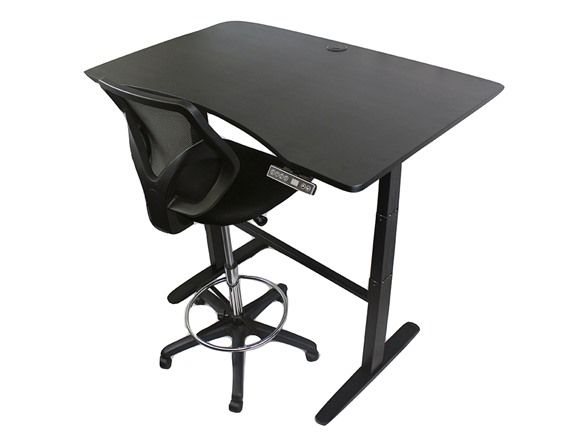 This electric standing desk sure beats the acoustic standing desks that folk musicians used to use.