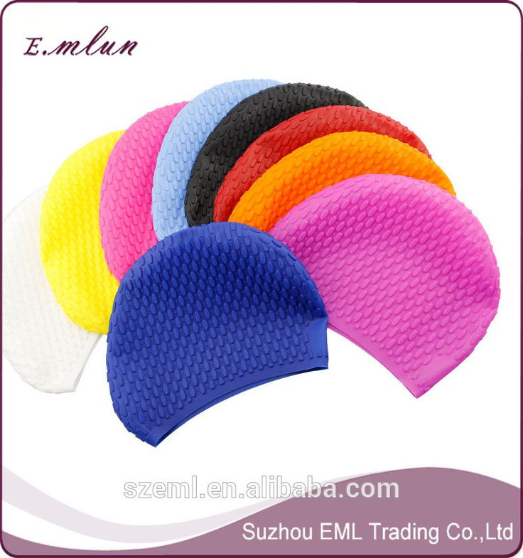 deae1791774 June Sports Long Hair Swim Cap Silicone Waterproof with Ear Cups Pocket- Swimming  Caps for