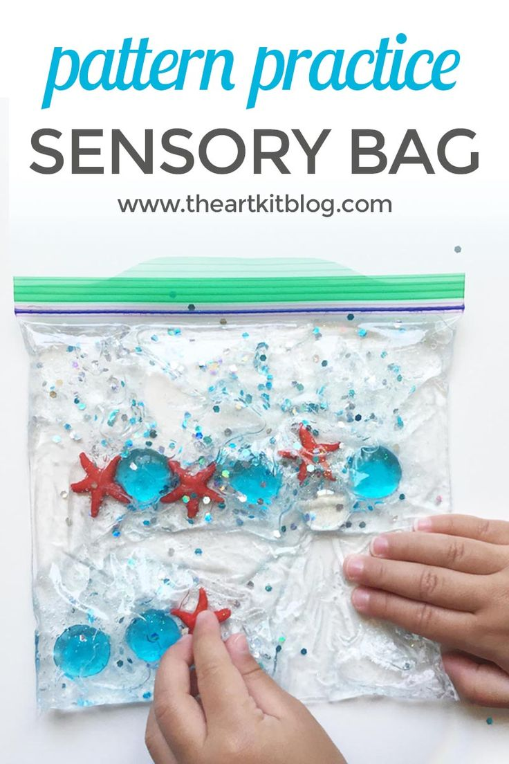 Ocean Sensory Bag for Pattern Practice {A fun quiet time activity for kids!} via @theartkit