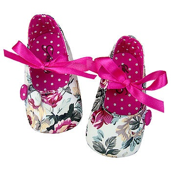Stasia Scarlet Ribbon Baby Pram Shoes