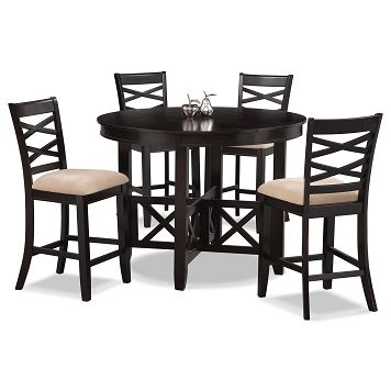 American Signature Furniture   Americana II Dining Room 5 Pc.  Counter Height Dinette $399.99 Part 90