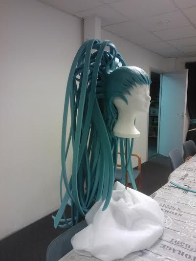 Foamwigs. custommade... a lot of work with beautiful result!