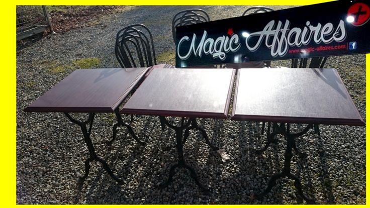 TABLE CARRE plateau bois pieds 4 branches intérieur bar restaurant pizza bistrot - MATERIEL PROFESSIONNEL/MATERIEL RESTAURATION - magic-affaires-22