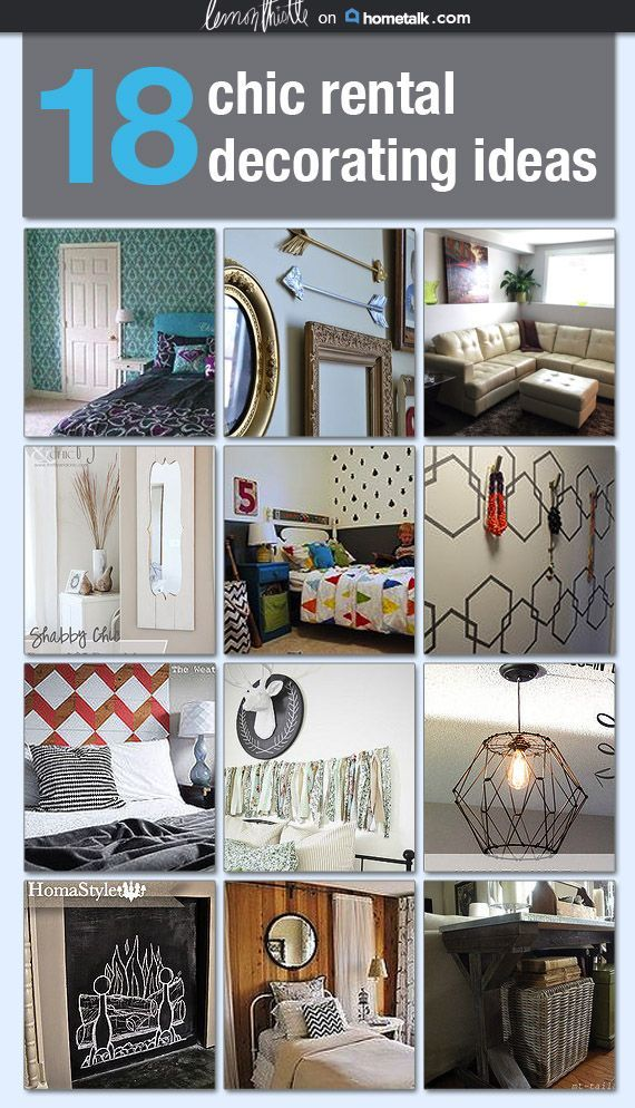 18 chic rental decorating ideas #DIYHomeDecorRental