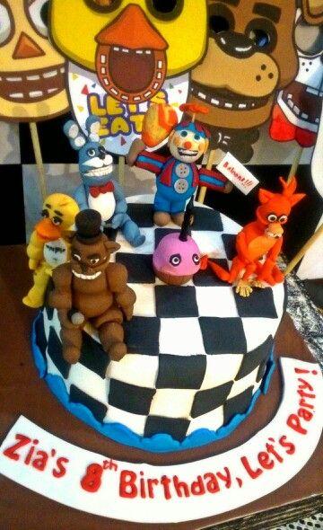 Five Nights at Freddy's birthday cake.   Birthdays   Birthday Cake