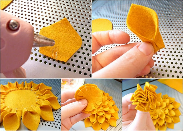 flowers- I have felt and hot glue...I may make these tonight...and make a head ban out of it