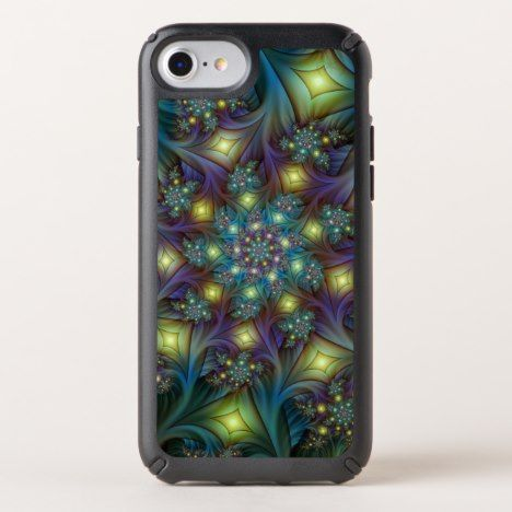 Illuminated modern blue purple Fractal Pattern Speck iPhone Case #abstract #pattern #iphone #protective #cases