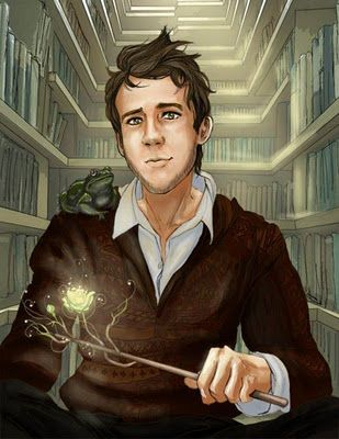 Neville Longbottom illustration--love the wand that's sprouting a flower!