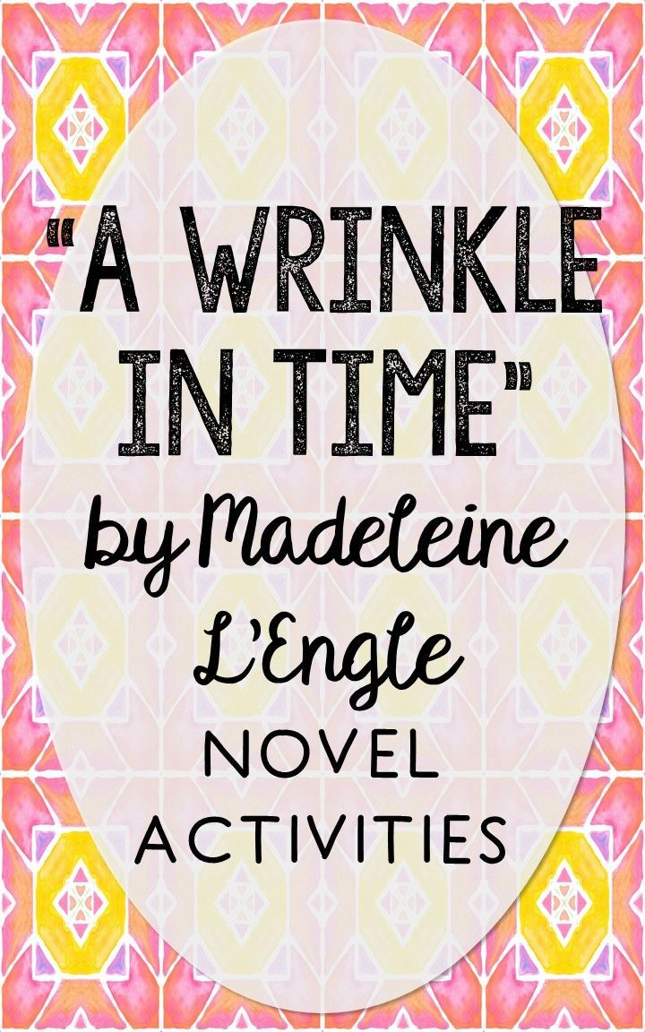 A Wrinkle in Time by Madeleine L'Engle. This print and go resource is perfect if you're looking for novel activities that are engaging and demonstrate comprehension WITHOUT multiple choice tests! This unit includes vocabulary terms, poetry, author biography research, themes, character traits, one-sentence chapter summaries, and note taking activities. You'll also find an author quote poster, a tri-fold bookmark, and character/vocabulary wall cards (plus EDITABLE cards!).