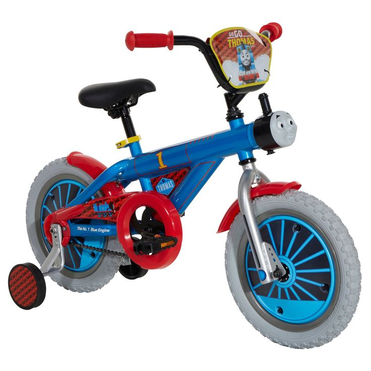 Little ones will love taking a ride with their favorite character thanks to the Thomas 14-inch Boys Bike. It is built from a sturdy and dependable steel frame. It has Thomas the Tank Engine's trademar