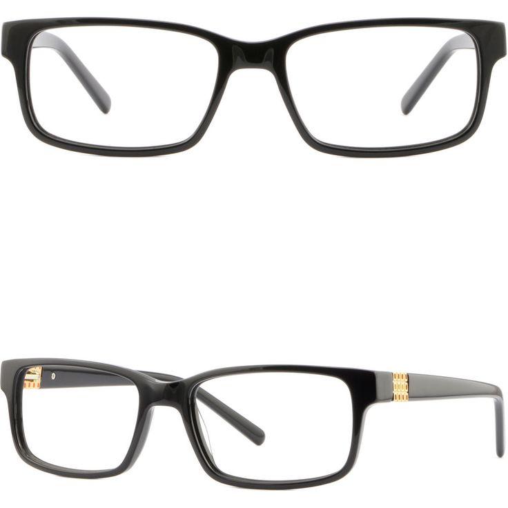 Light Women's Acetate Frames Spring Hinges Prescription Glasses Rectangle Black