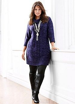 Cowl Neck Plus Size Sweater Dress from Lane Bryant