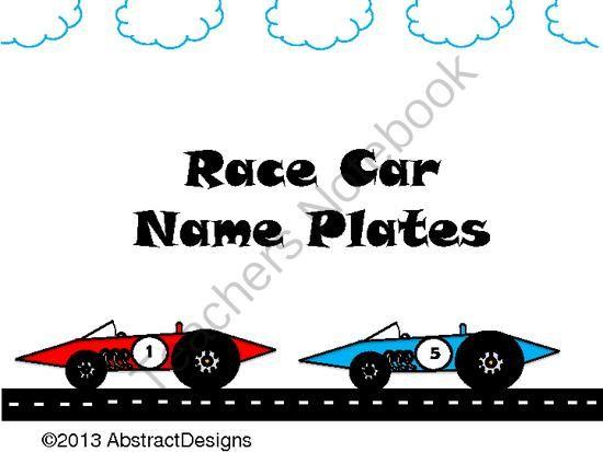 Name Plates For Cars >> Race Car Name Plates | Name Plates | Pinterest