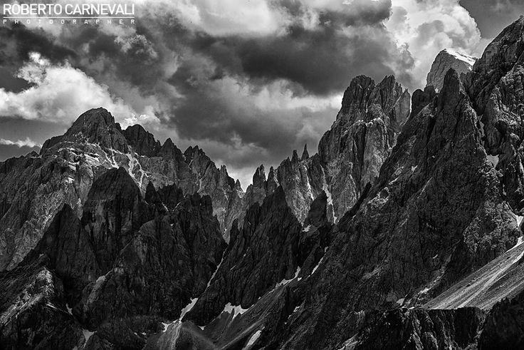 """""""Tribute to Ansel Adams and Reinhold Messner""""  Un viaggio all'origine del mio amore per la fotografia di montagna, un intreccio di storie tra un ragazzino curioso e quella di due grandi ed inconsapevoli maestri: Reinhold Messner ed Ansel Adams.  Dolomiti di Sesto - Italia."""